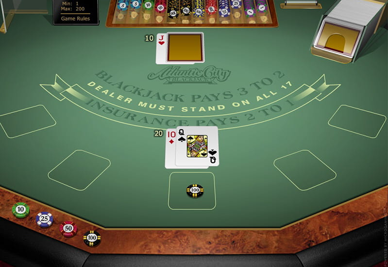 Atlantic city blackjack table limits spin palace casino avis